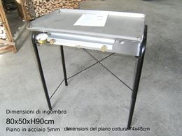 GRIGLIE/BARBECUE A GAS ACCIAIO/FERRO