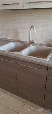 Top lavandino a due vasche da 40 cm